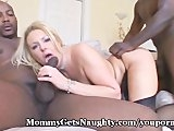 Lustful Mommy Shared With 2 Black Studs